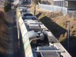 Vinschger Zug bei Kortsch - ferrovia Val Venosta (Foto Umweltschutzgruppe Vinschgau)