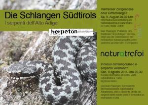 Die Schlangen Südtirols naturatrafoi