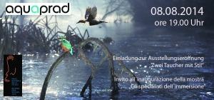 Einladung Ausstellungseröffnung aquaprad