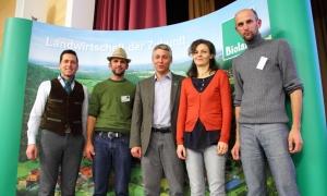 Ulrich Veith, Günter Wallnöfer, Jan Plagge, Martina Hellrigl, Michael Oberhollenzer (Foto Bioland)