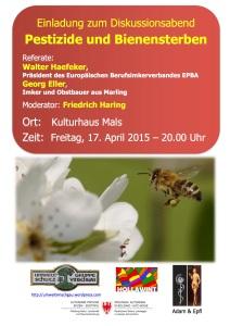 Plakat Pestizide und Bienensterben