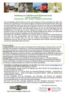 Lehrfahrt Niederösterreich