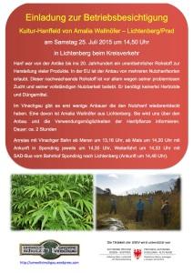 2015-2507 plakat betriebsbesichtigung hanfanbau amalia wallnoefer