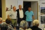 Hans Narrenhofer (RegioBahn Leiser Berge), Rudi Maurer (USGV), Horst Gangl (Bürgermeister Gemeinde Ernstbrunn)